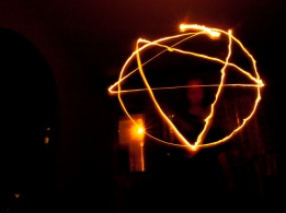 Pentagram in lights