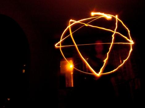 Pentagram in lights